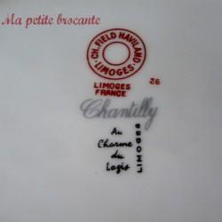 Ancien ravier Ch. Field Haviland Limoges modèle Chantilly