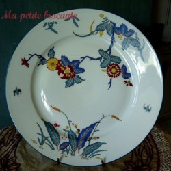 Ancien grand plat rond Ch. Field Haviland Limoges modèle Chantilly