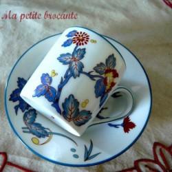 Tasse à café et soucoupe de Charles Field Haviland Limoges modèle Chantilly  KAKIEMON