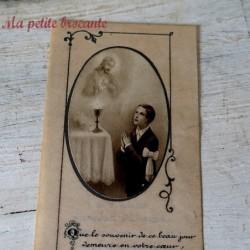 Belle image pieuse celluloïd souvenir de communion