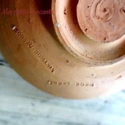 Coupelle ancienne céramique de Horezu Romania de Popa