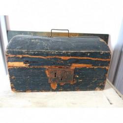 Ancien coffret en bois pour matériel scientifique
