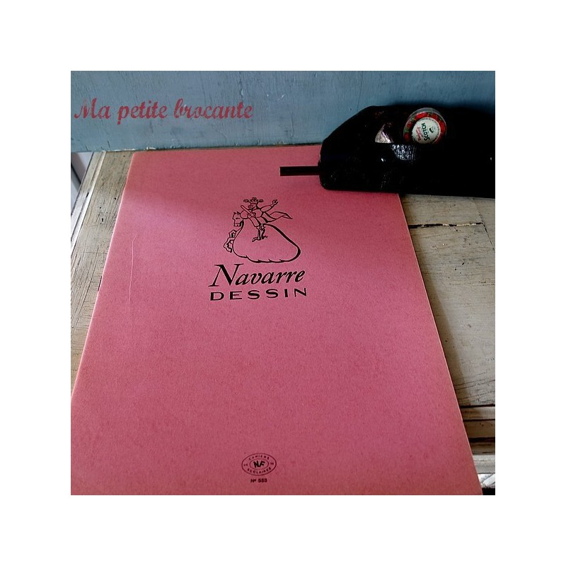 Ancien cahier scolaire Navarre dessin grand format  n° 553