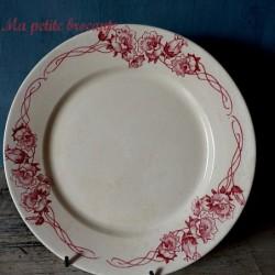 Ancienne assiette plate  U & Cie Sarreguemines Palerme