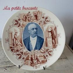 Assiette U & Cie Sarreguemines Félix Faure 1875