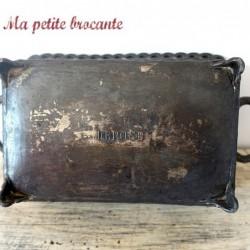 Panier avec anses ancien en bronze argenté
