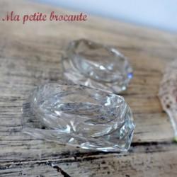 Paire de salerons en cristal
