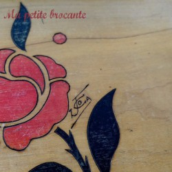 Ancien plateau art déco peint et signé JC OA