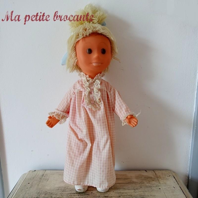 Ancienne poupée Pimprenelle en plastique souple