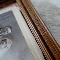 Cadre à poser ou à suspendre en bois avec photo de mariés
