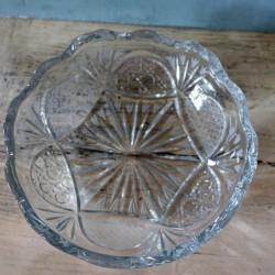 Belle coupe en cristal taillé début XXème