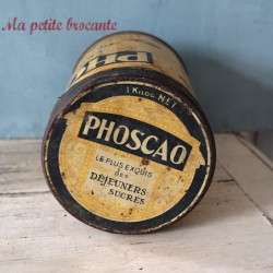 Belle boîte ancienne Phoscao des années 30 - 1 kg