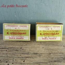 Deux boites de crayons lithographiques anciennes n° 4 et n°5