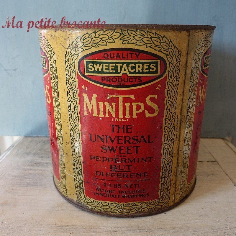 Grande boîte ancienne Mintips Sweetacres Hayes Middlesex
