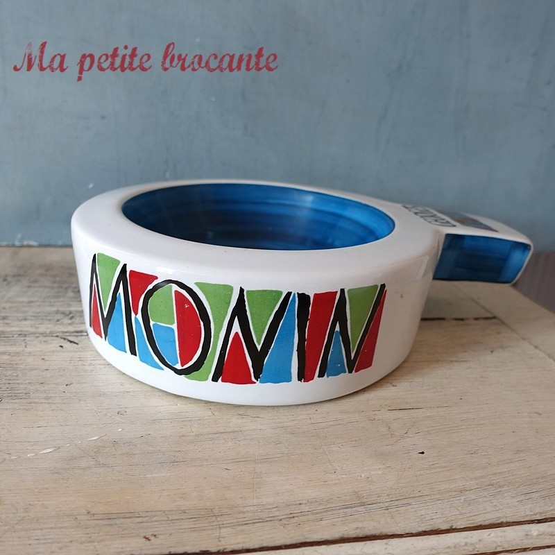Vide poche publicitaire Georges MONIN en céramique colorée