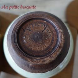 Serviteur en céramique signée Keramos des années 50