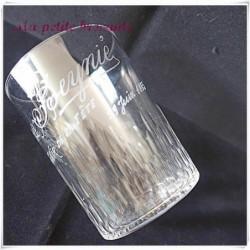 Joli verre ancien en cristal souvenir de la fête gravé Pierre Beynié 1895