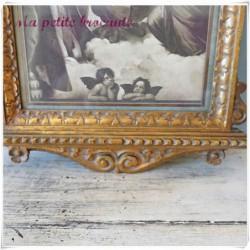 La madone sixtine de Raphaël dans un bel encadrement Napoléon III