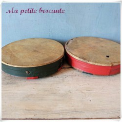 Paire de tambourins jeu de balles