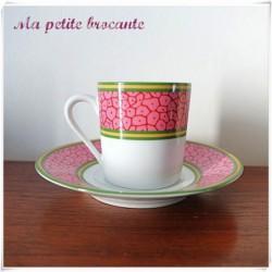 Tasse à café et sa soucoupe Philippe Deshoulières Limoges Antiope Patrick Frey