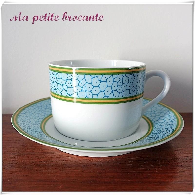 Tasse à thé et sa soucoupe Philippe Deshoulières modèle Babylone Patrick Frey