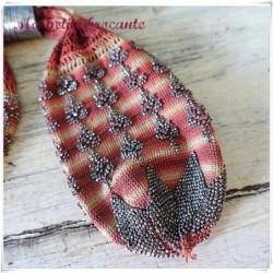 Ancienne bourse porte Louis d'or en maille et perles d'acier