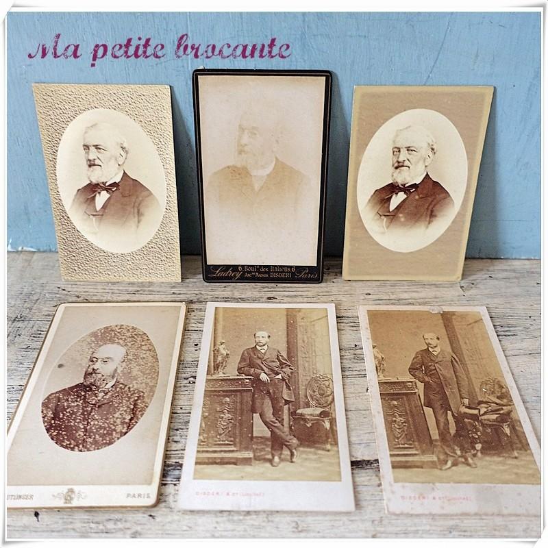 Lot de six photos anciennes 1900 Reutlinger Ladrey Disderi