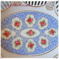 Banette ancienne en porcelaine ajourée allemande