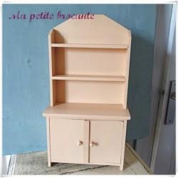 Ancien buffet de cuisine jouet mobilier de poupée H 45 cm