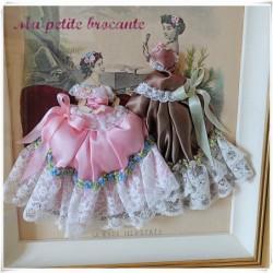 Ancienne gravure de mode la mode illustrée habillée