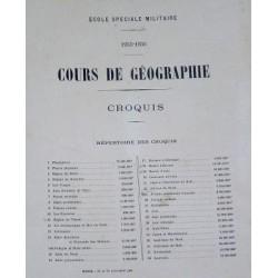 CROQUIS DE GEOGRAPHIE DE L'ECOLE SPECIALE MILITAIRE SAINT-CYR 1935-1936 MILITARIA