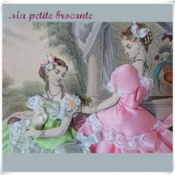 Ancienne gravure la mode illustrée habillée Anaïs Toudouze
