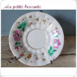 Ancienne tasse et sous tasse en porcelaine de Paris