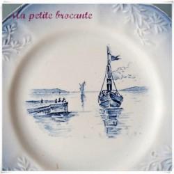Ancienne petite assiette de collection marine Orchies Nord 2
