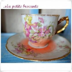 Tasse et soucoupe à café début 1900 FRG Limoges