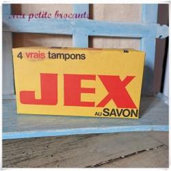 Ancienne boite 4 vrais tampons Jex au savon