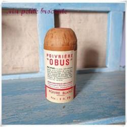 Ancienne poivrière Obus Pic-Pur marque ERG