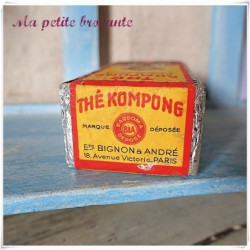 Ancien paquet de thé Kompong Flowery Pekoe