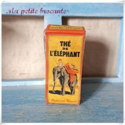 Ancien paquet de thé de l'éléphant spécial Blend