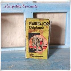 Ancien paquet Plantes d'or Eléphant verveine