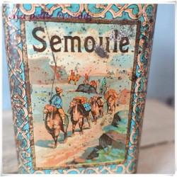 Belle boîte ancienne lithographiée Chicorée Alphonse Leroux  Semoule
