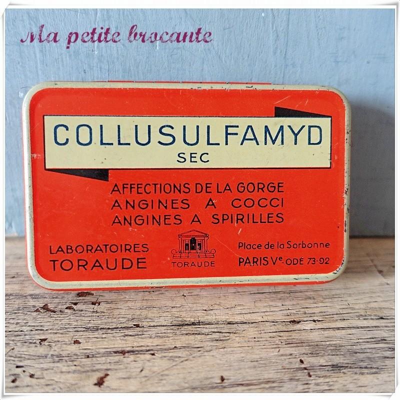 Boîte pharmaceutique collusulfamyd sec
