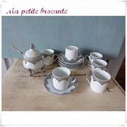 Coffret service à café en porcelaine Japonaise Yamasen gold collection
