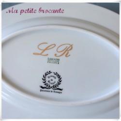 Ravier en porcelaine de Limoges Arnauld de Brissac