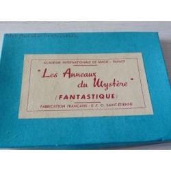 LES ANNEAUX DU MYSTERE ACADEMIE INTERNATIONALE DE MAGIE FABRICATION E.F.O. SAINT ETIENNE