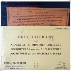 Ancien appareil Limographe instantané Eyquem