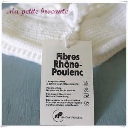 Jolis chaussons pour bébé en laine Crylor Rhône Poulenc