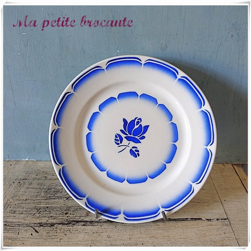 Assiette dessert en porcelaine opaque de Badonviller