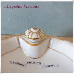 Belle assiette à bouillie en porcelaine de Limoges Bernardaud
