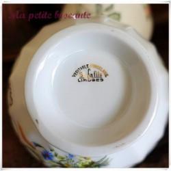 Bol vintage en porcelaine de Limoges personnalisé Gilberte